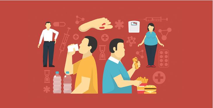 당뇨의증상, 다음 : 갈증이 생겨 물을 많이 마시게 됩니다. 다뇨 : 소변을 자주 보며 양도 많아지고 냄새가 납니다.다식 : 먹어도 계속 배가 고프고, 특히 단 음식이 많이 먹고 싶어집니다